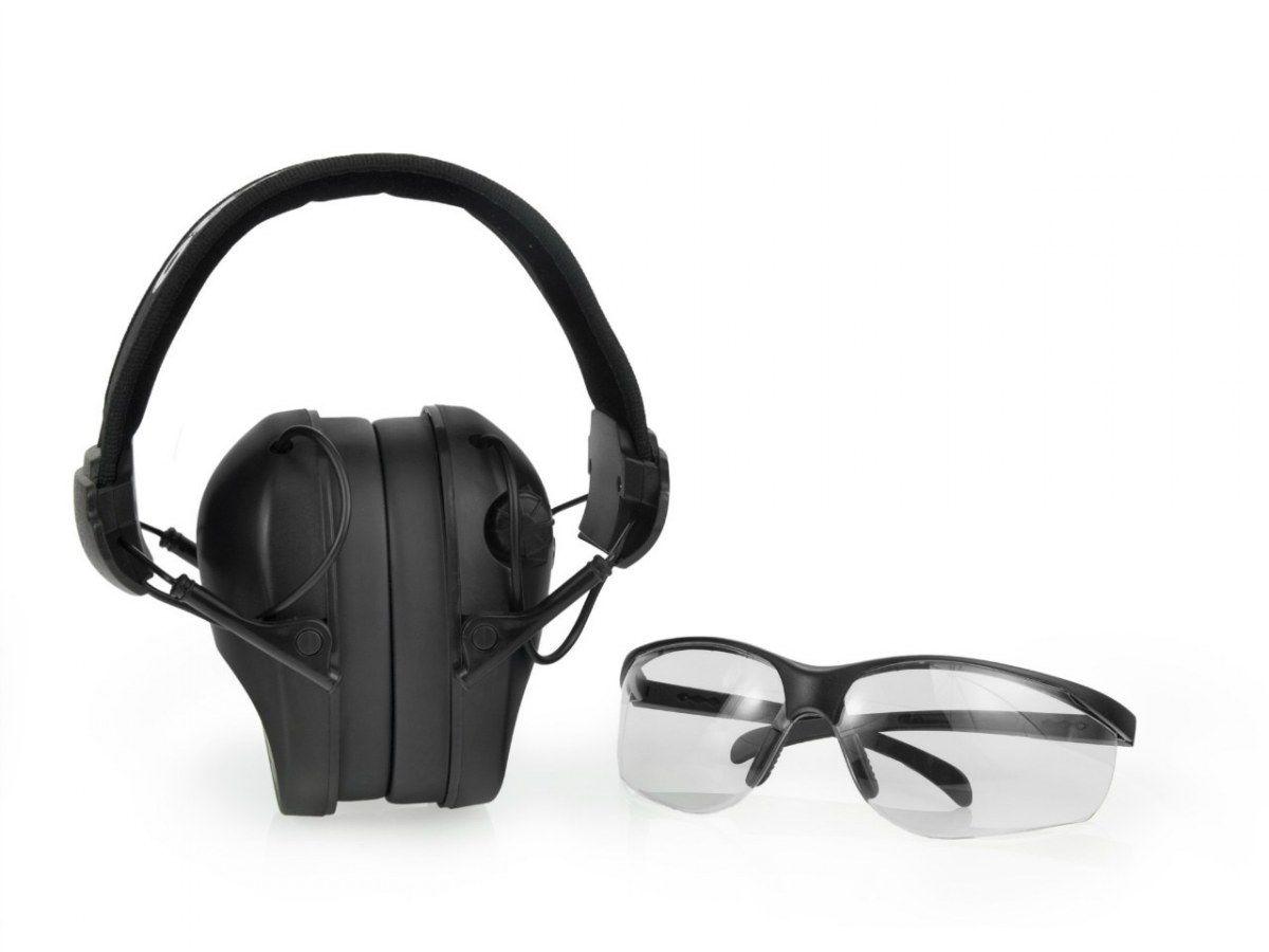 Наушники защитные активные realhunter pro +очки