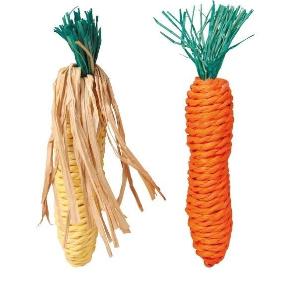 Игрушка прорезыватель кролик, 2 овоща