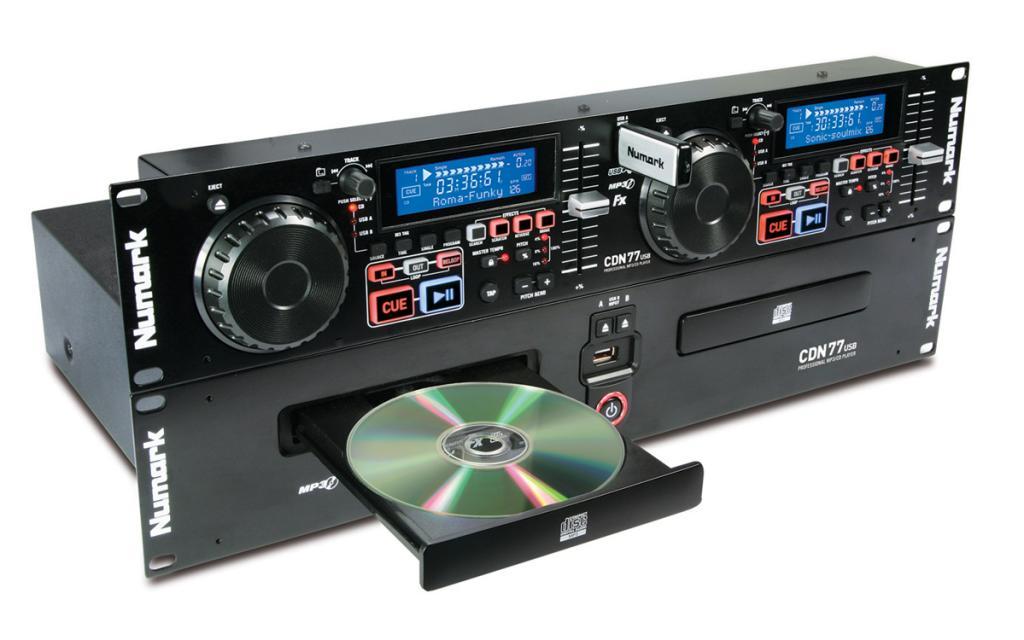 Купить Numark CDN77USB двойной CD/MP3 проигрыватель с USB на Otpravka - цены и фото - доставка из Польши и стран Европы в Украину.