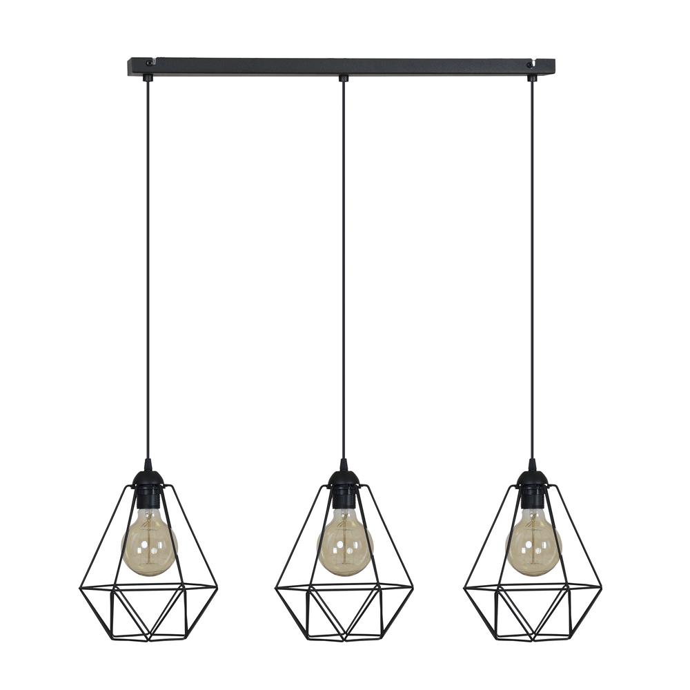 Prívesok svetlo loft vintage DIAMOND 3 - LED môžete