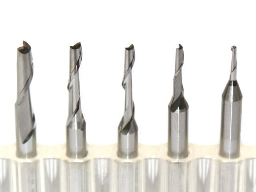 Mills VHM Jednodielne karbid CNC pre PVC plexi PE