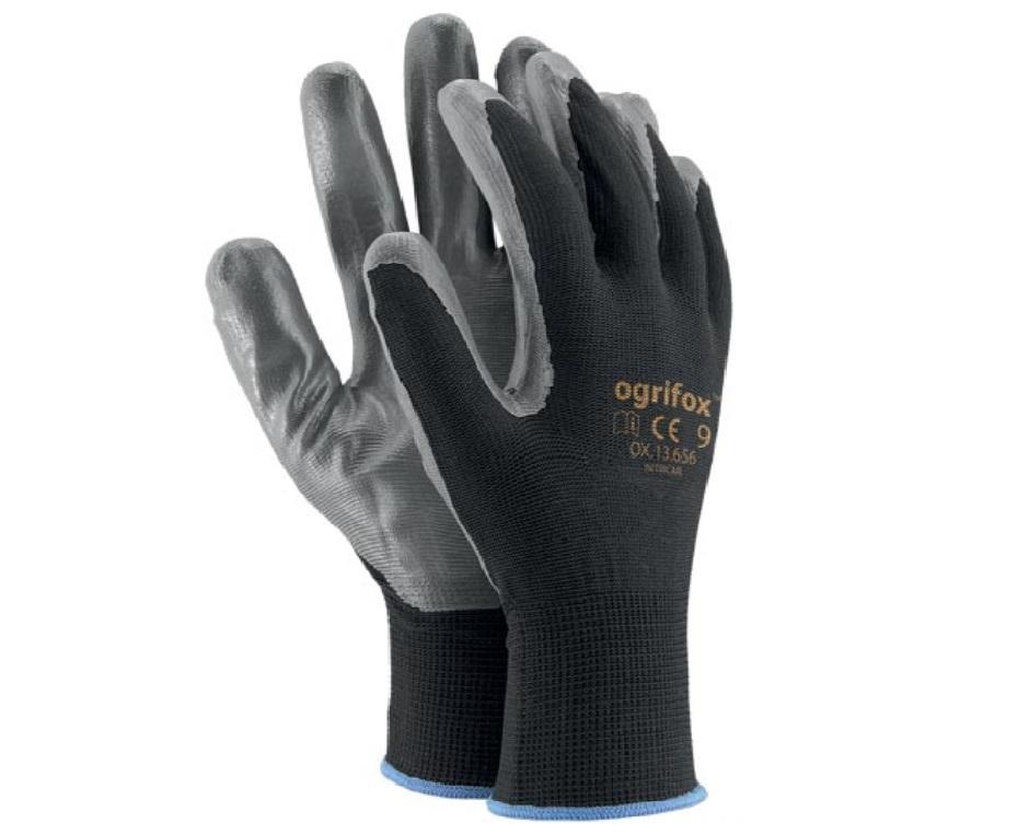 Перчатки рабочие нитриловые OX B тип RTENI р. 9