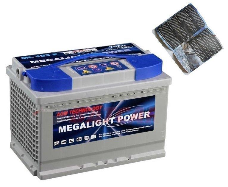 Batérie Pre Loď, Pontón thermotrousers MEGAlight AGM 75 Ah