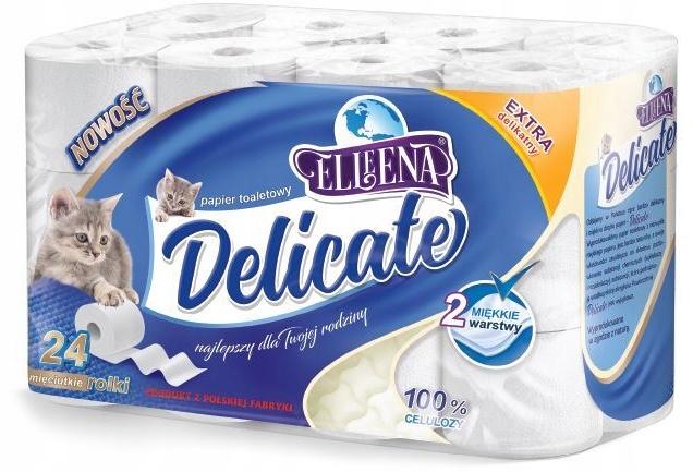 Delicate 24 rolki papier toaletowy 2 warstwy