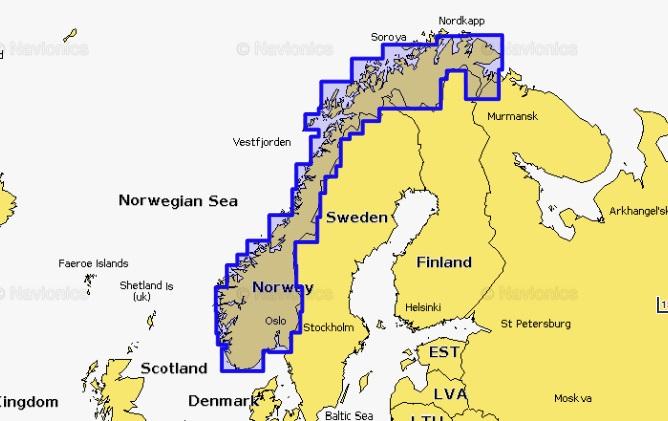 Mapa pre zdravšie Navionics+ Nórsko 5G366S