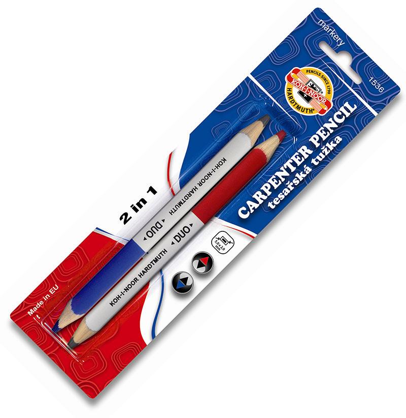 KOH a NOOR ceruzka Carpentry Duo 2PC blistr