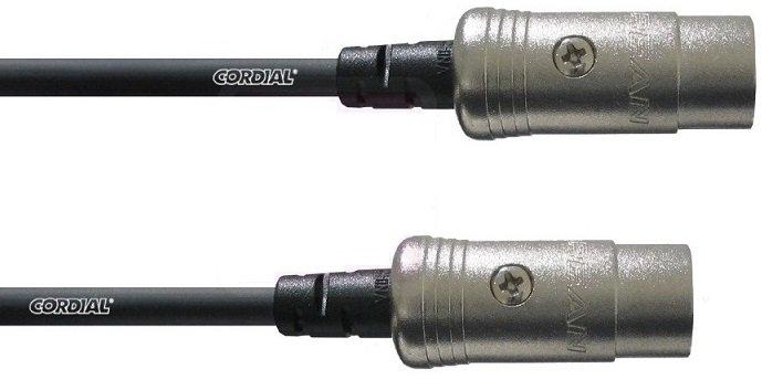 MIDI Srdekový kábel 5 DIN GOLDING DIN5 9M