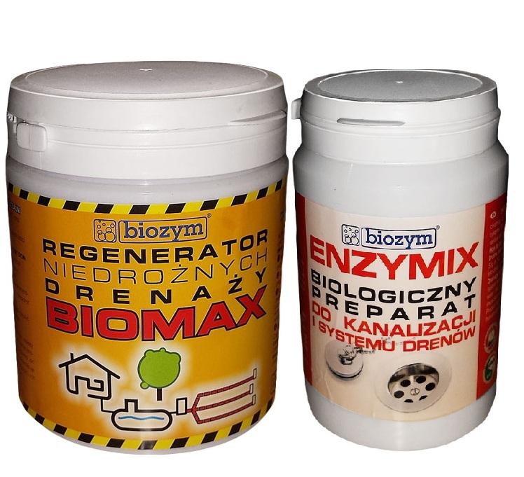 BIOMAX + ENZYMIX regenerator niedrożnego odvodnenie