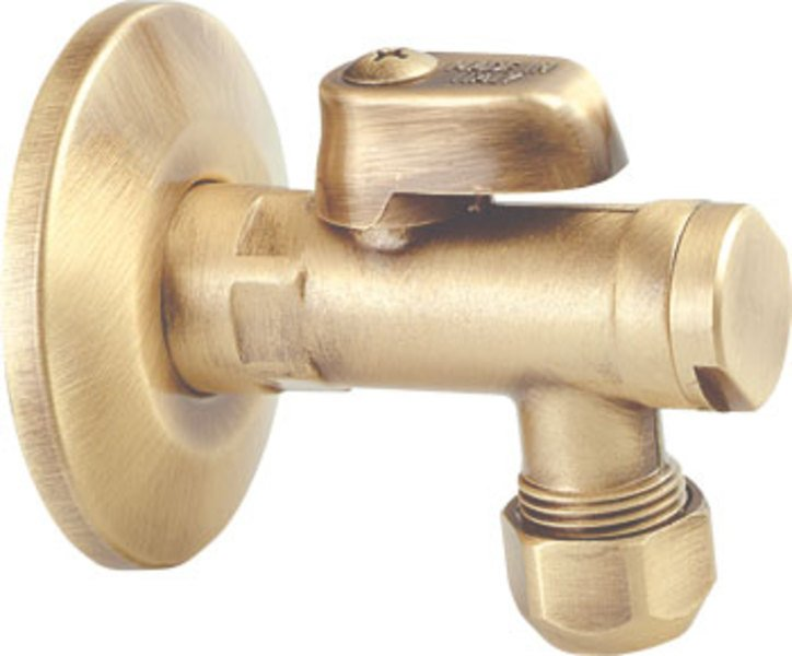 Rohový ventil 1/2 'x 3/8' bronzový retro štýl
