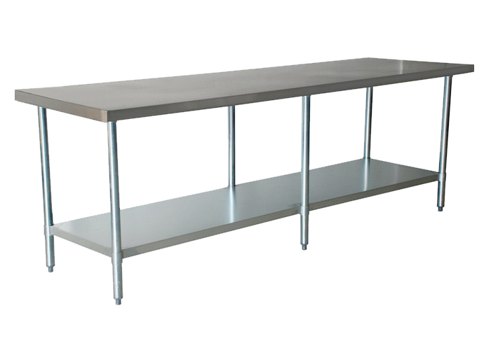 Pracovný stôl. List 2100 mm + FV polica