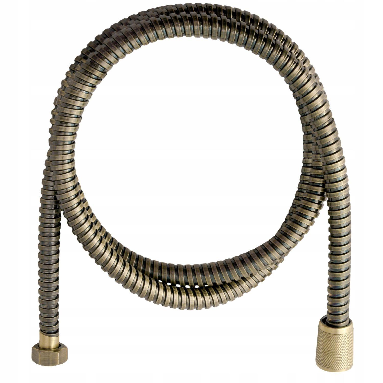 Sprchové hadice retro antique brass 150 cm.