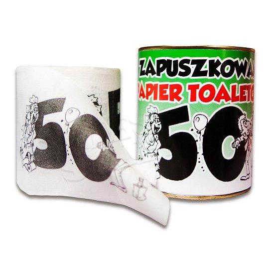 Туалетная бумага на 50-ый день РОЖДЕНИЯ подарок, поэтому консервы