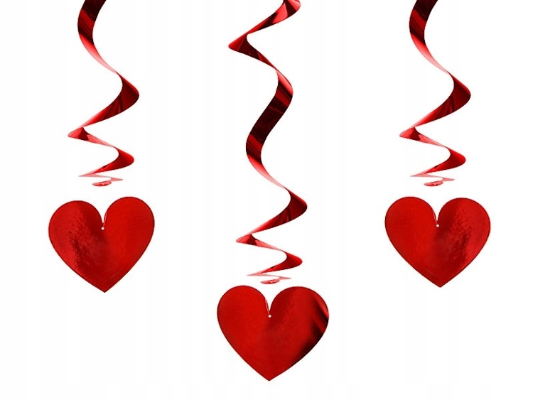 Widerki Serca украшение на День святого Валентина 3шт SWID14