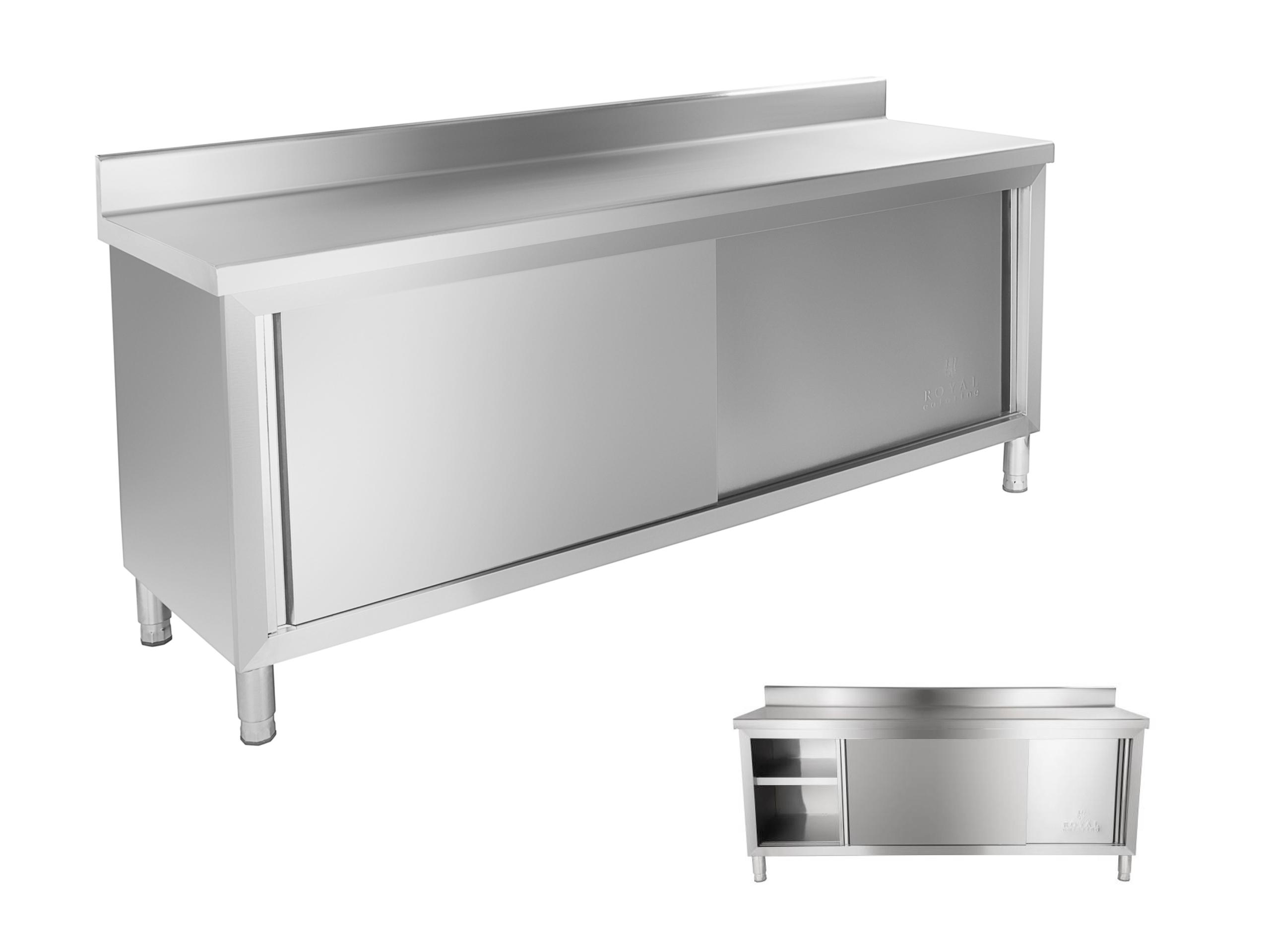 Stolový pracovný stôl 200x60 s cateringovou skrinkou
