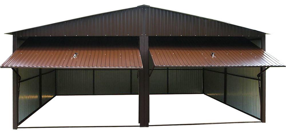 Гаражи Blaszaki Жестяные гараж Железный 6x5 бронза