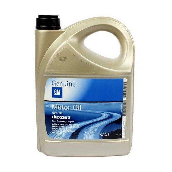 OPEL GM 5W30 dexos2 Моторное масло 5L Оригинал!