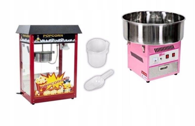 Stroj pre cukor wat + pre popcorn