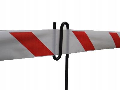 Słupek stojak BHP do taśmy ostrzegawczej