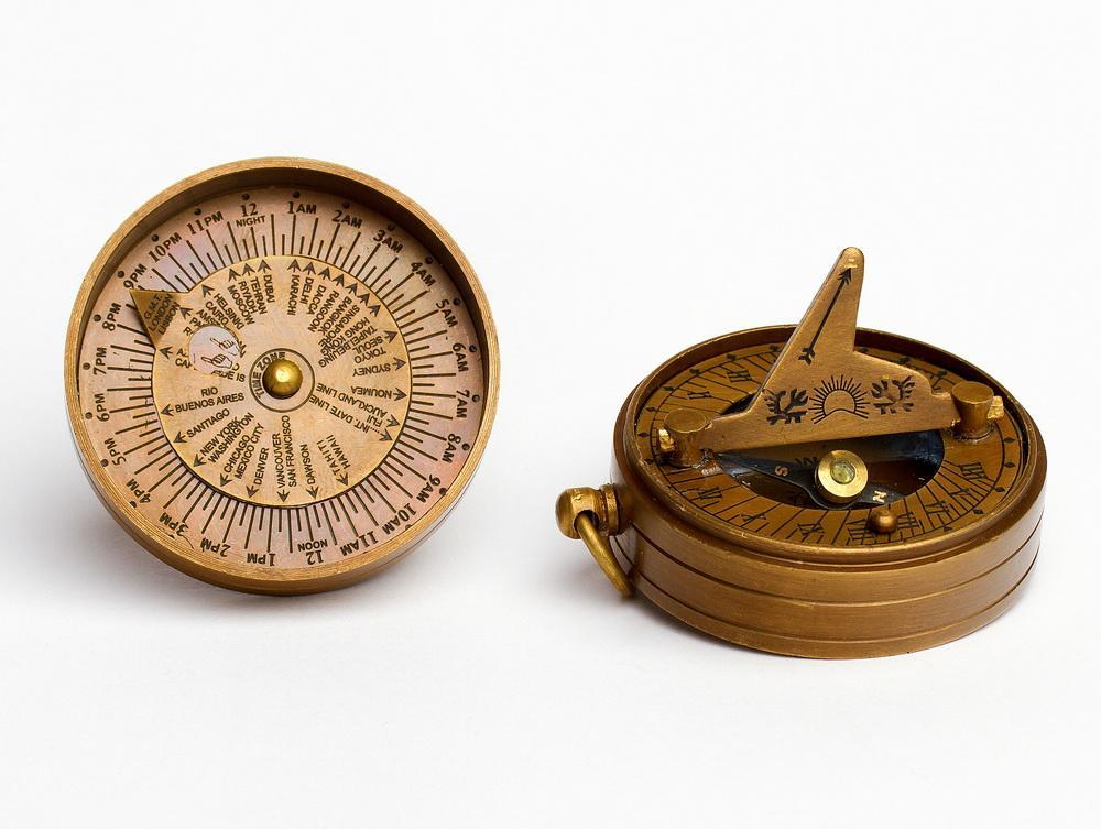 Kompas bronz darček slnečnými HEATH