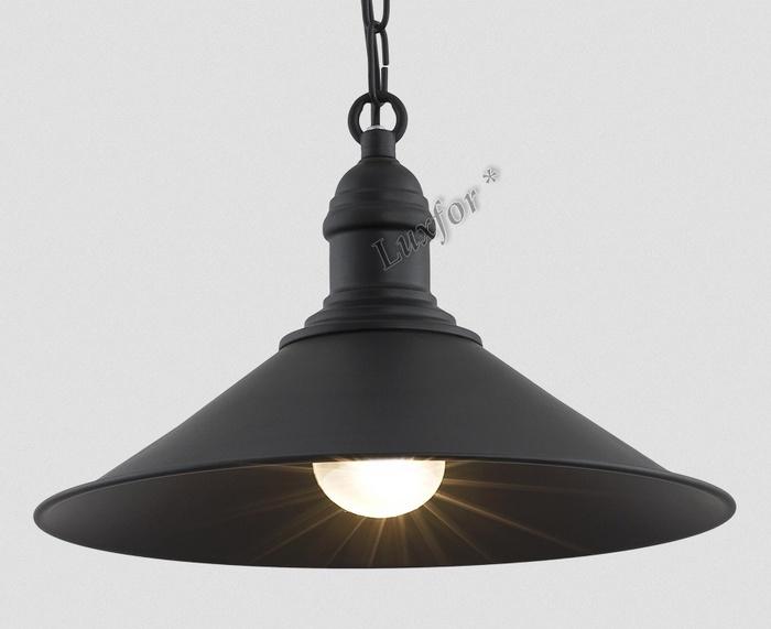 LAMPA LOFT VINTAGE, ČIERNA ERGO - PRIEMYSELNÉ