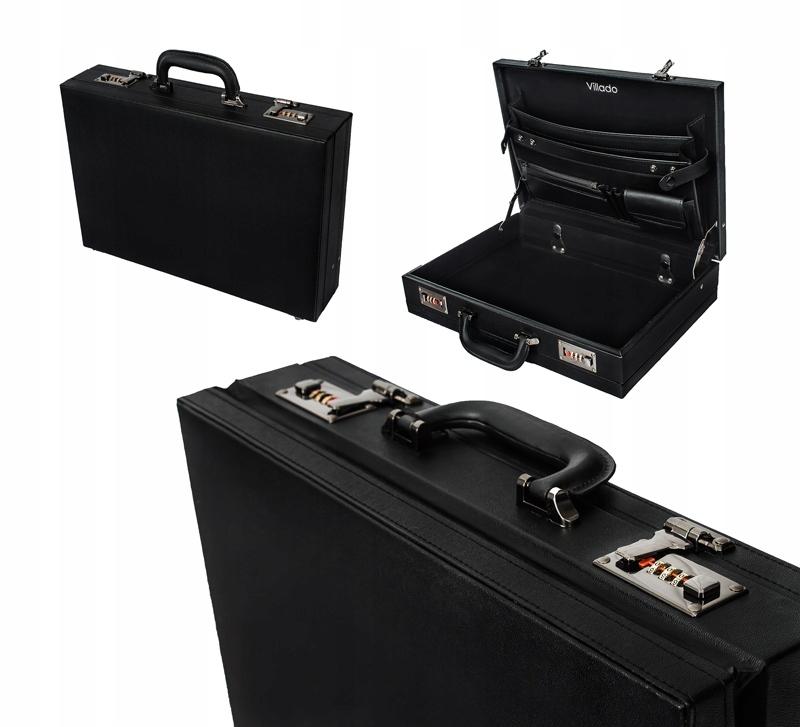Черный портфель ДИПЛОМАТ ПОРТФЕЛЬ кожаная DYPLOMATKA доставка товаров из Польши и Allegro на русском