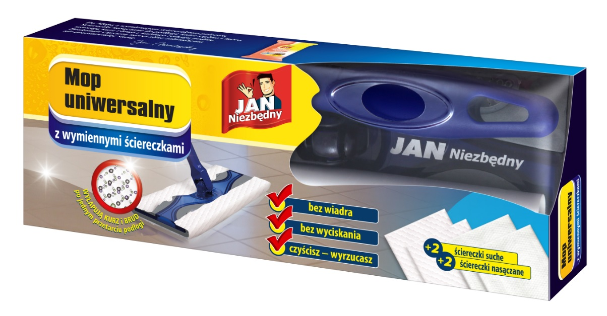 Jan Необходимый Mop + сменные салфетки