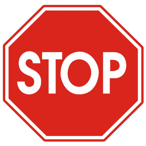 Road Sign Stop B20 400mm Typ I