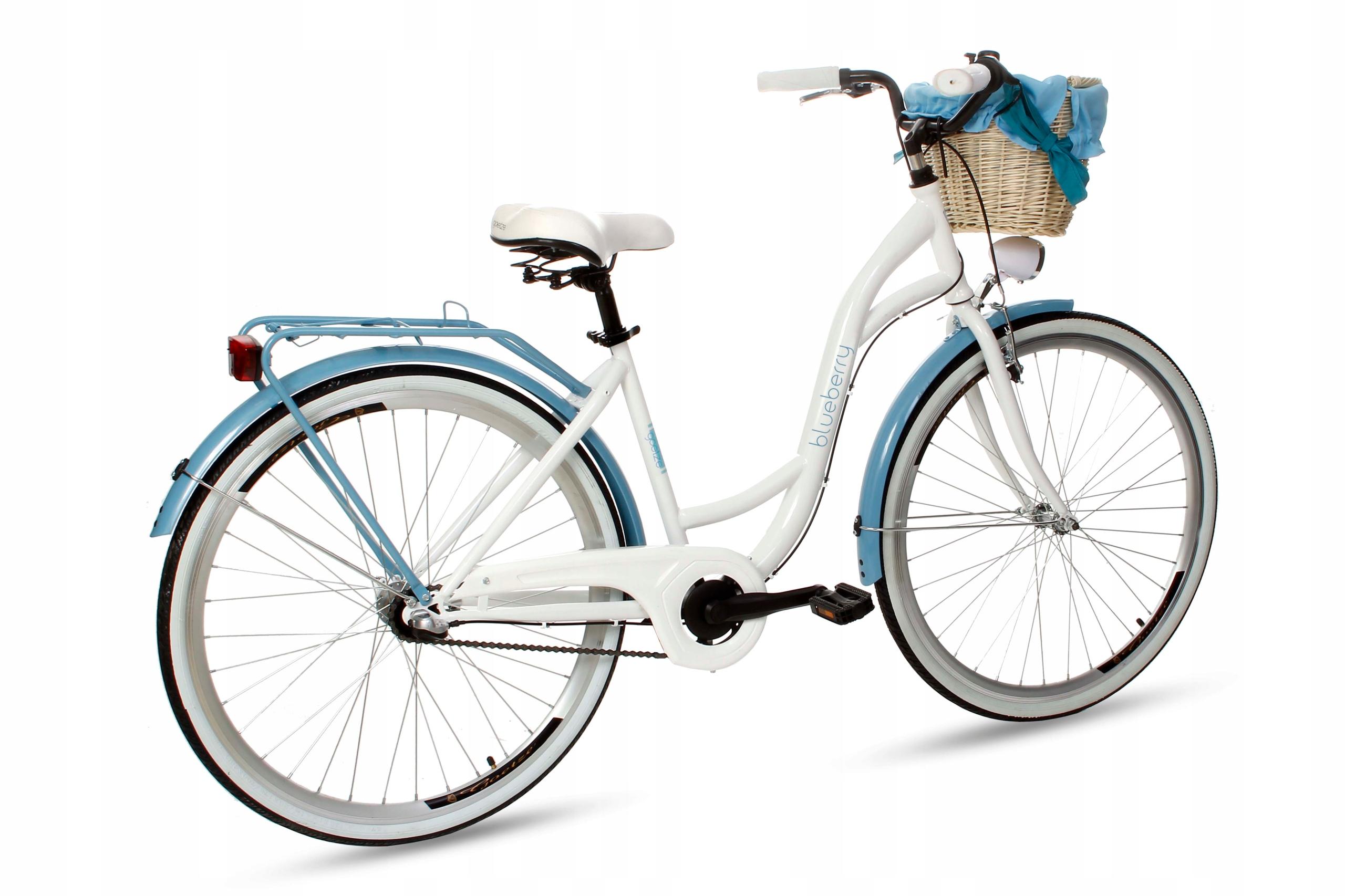 Dámsky mestský bicykel Goetze BLUEBERRY 28 3b košík!  Materiál rámu oceľ