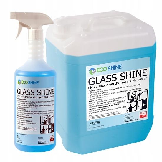 ECO SHINE GLASS SHINEdo мытья стекол и зеркал 5Л