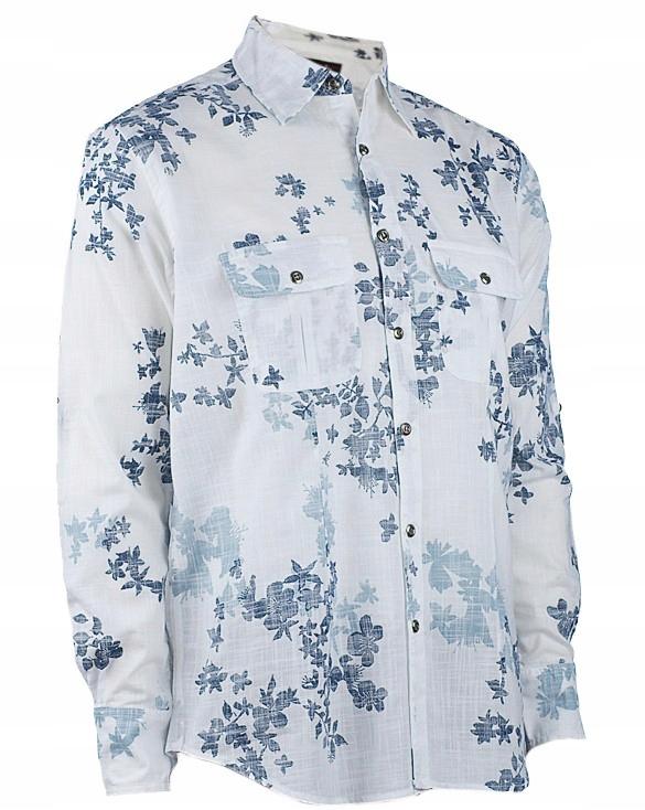 Luciano Moretti XL 4344 męska koszula w kwiaty 7488908551  XexUk