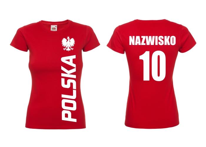 Dámske poľské dámske tričko pre fanúšik -m
