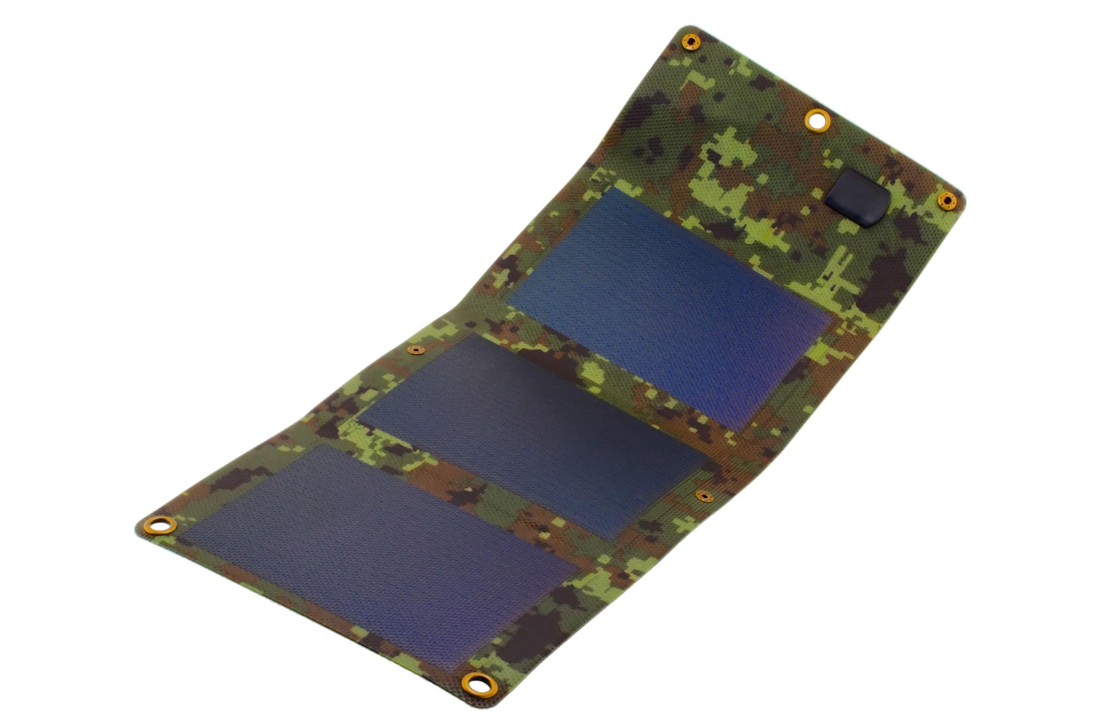Solárny panel 5W flexy skladacie kamufláž PowerNeed
