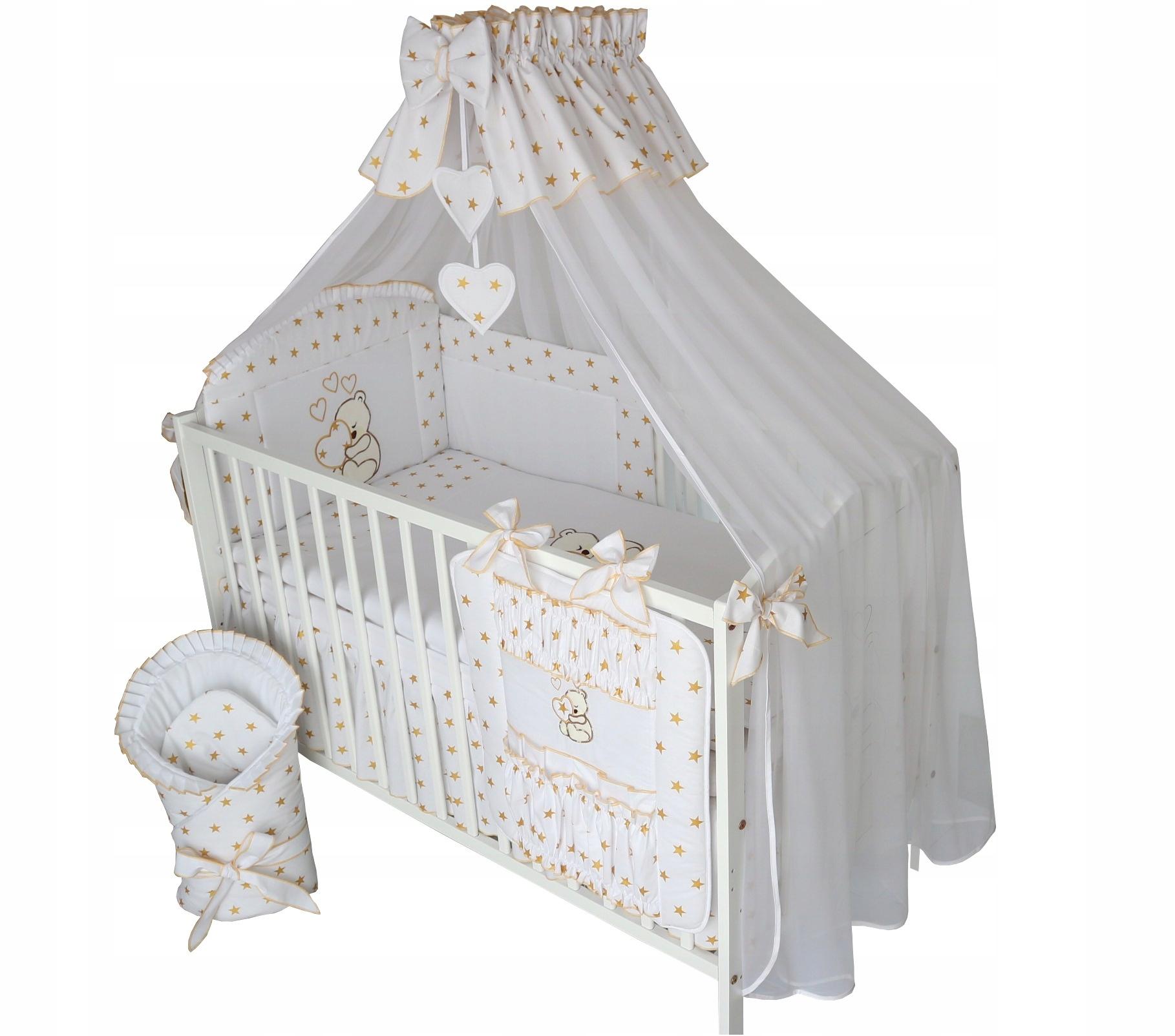 14el. 90x120 VÝŠIVKY posteľná bielizeň s baldachýnom