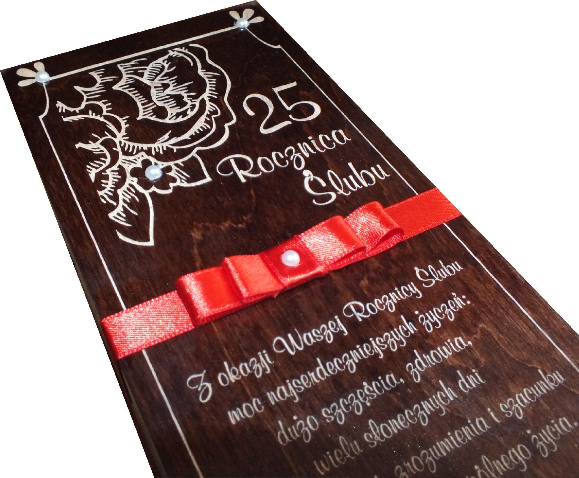 Skrzynka Wino Prezent Rocznice Slubu 25 50 Grawer 6882941848