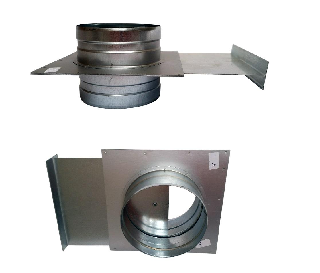 Gateway 140mm škrtiacej klapky hadice Spiro extrakcia