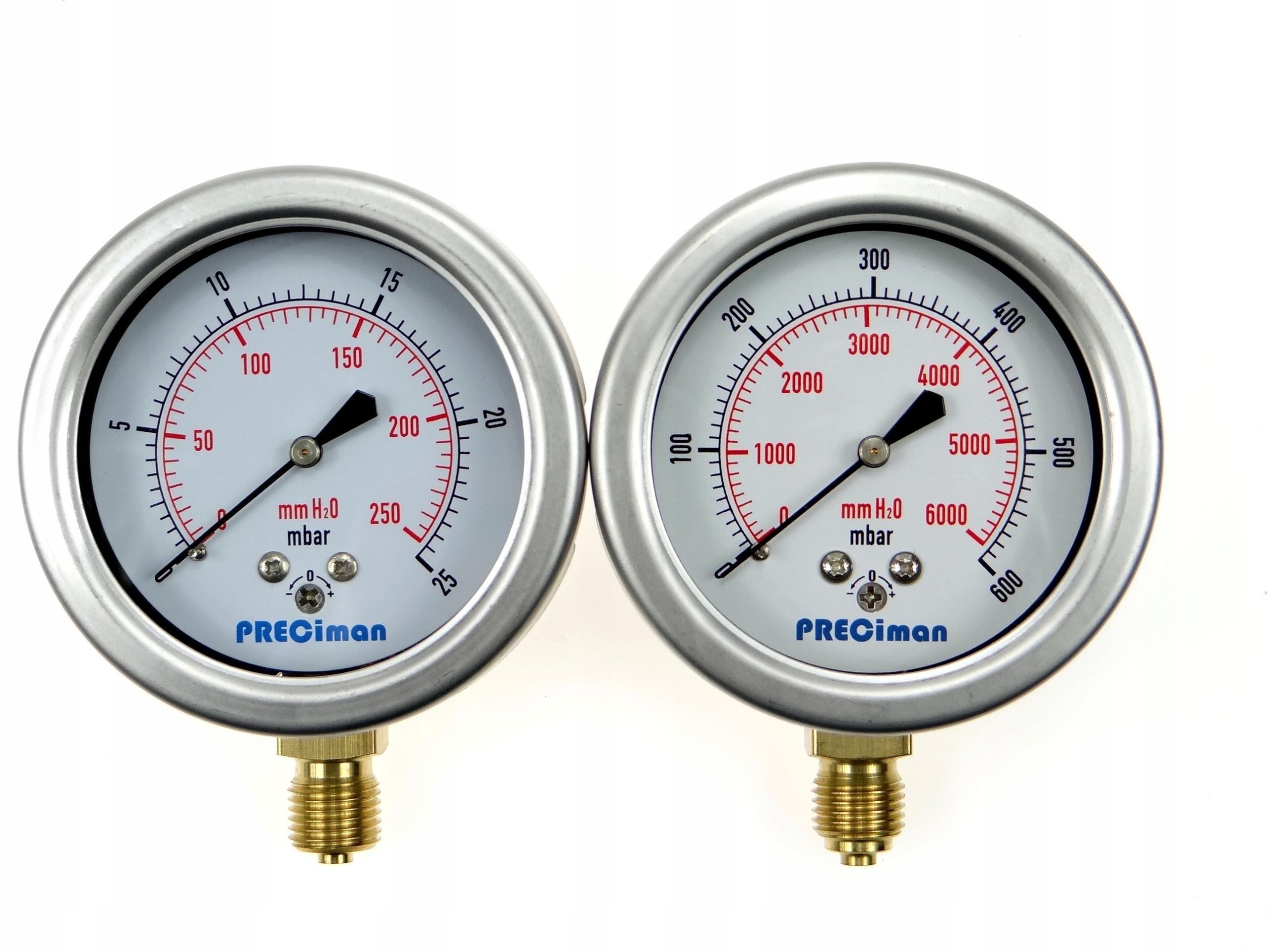 Manometer 0-25-40-60-100-160-250-400-600 MBAR 1/4 '