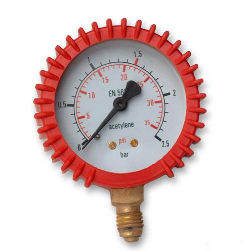 Gauge Clock Reduktor Acetylén 0-2,5 Bar 12x1,5