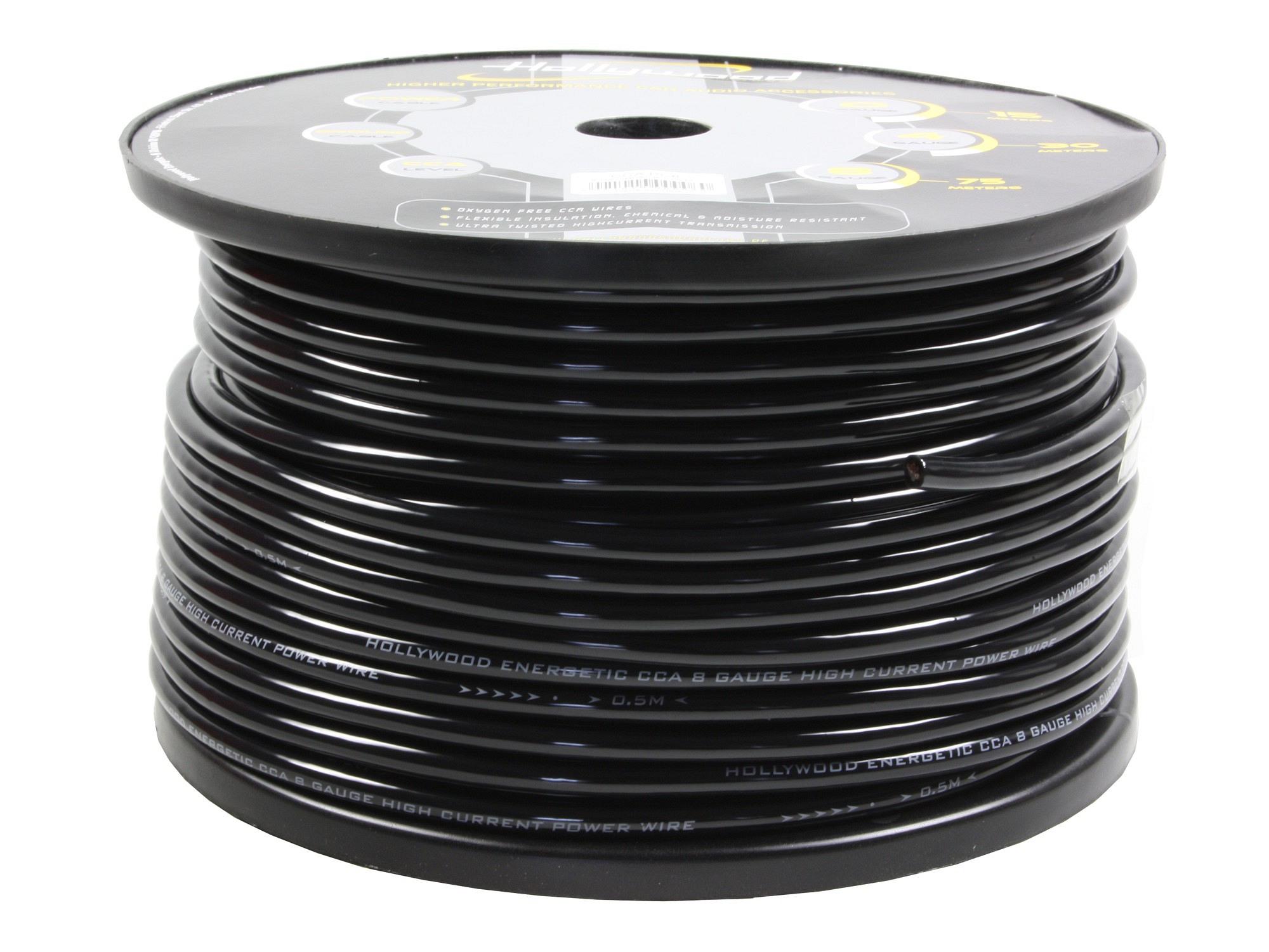 Napájací kábel 8ga HW cca pcb8 čierna
