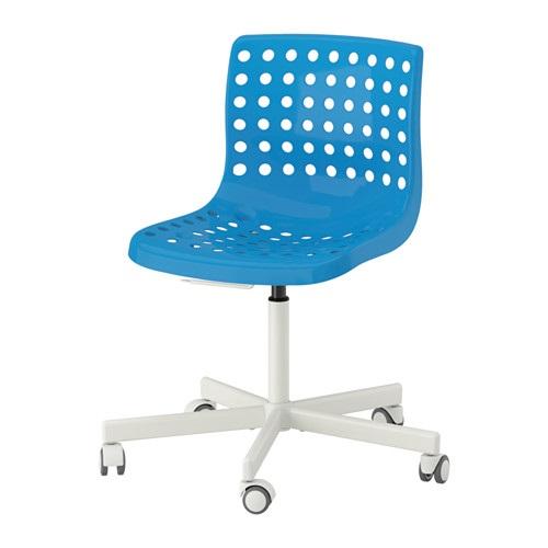 IKEA otočná stolička SKALBERG / SPORREN modrá