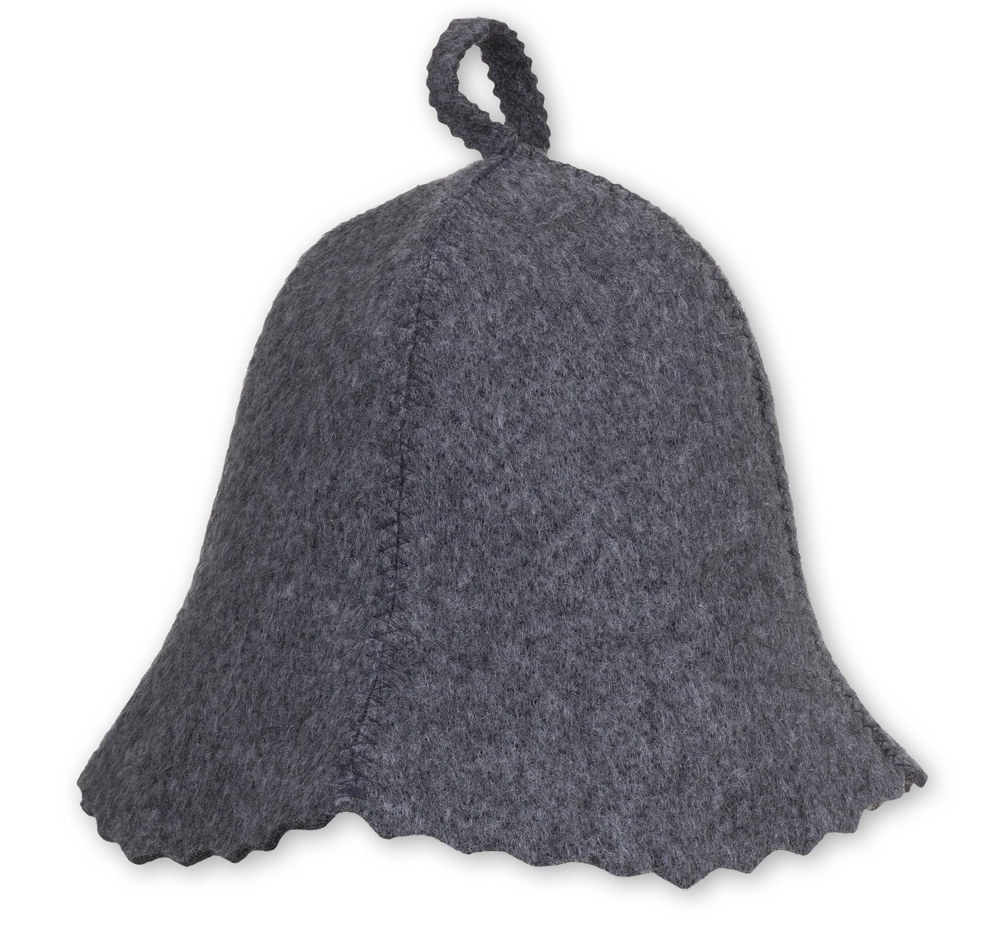 САУНА шапка войлок серая для САУНУ- Универсальная