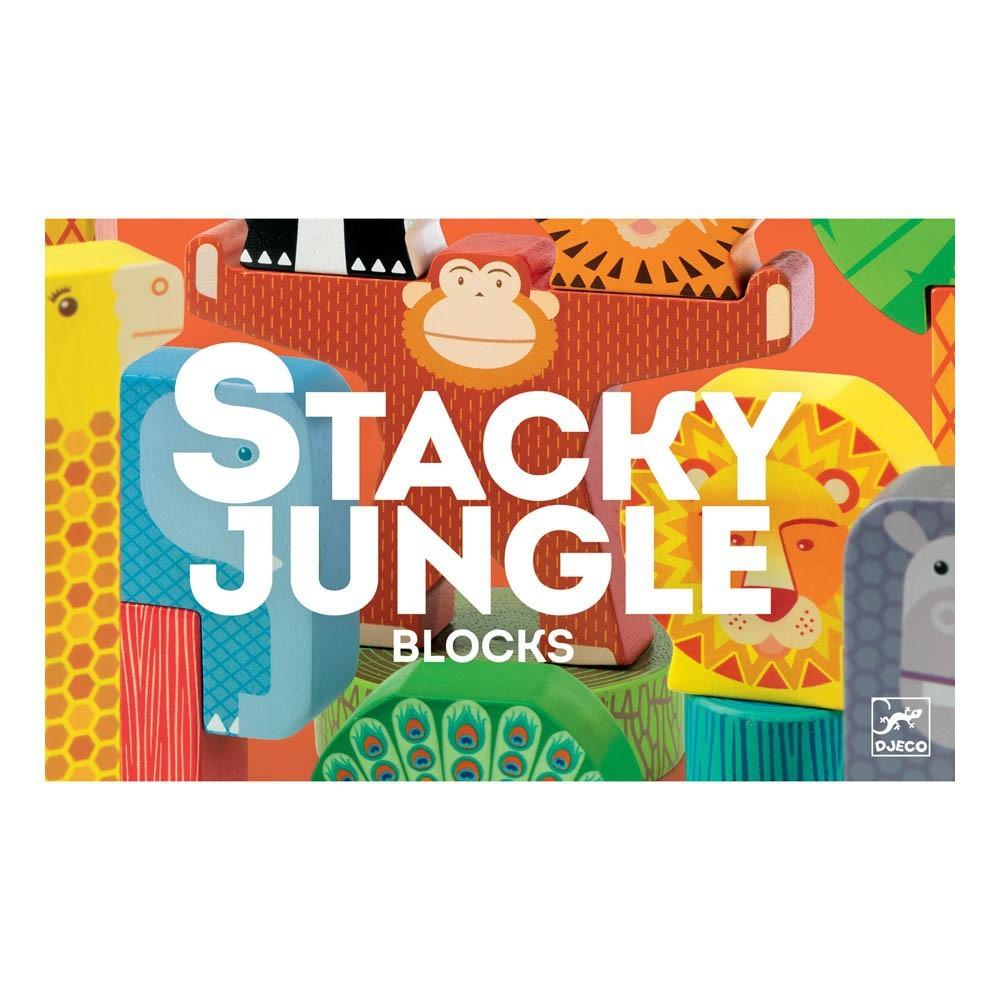 DJECO kocky drevené STACKY JUNGLE 2+ PROMO%%