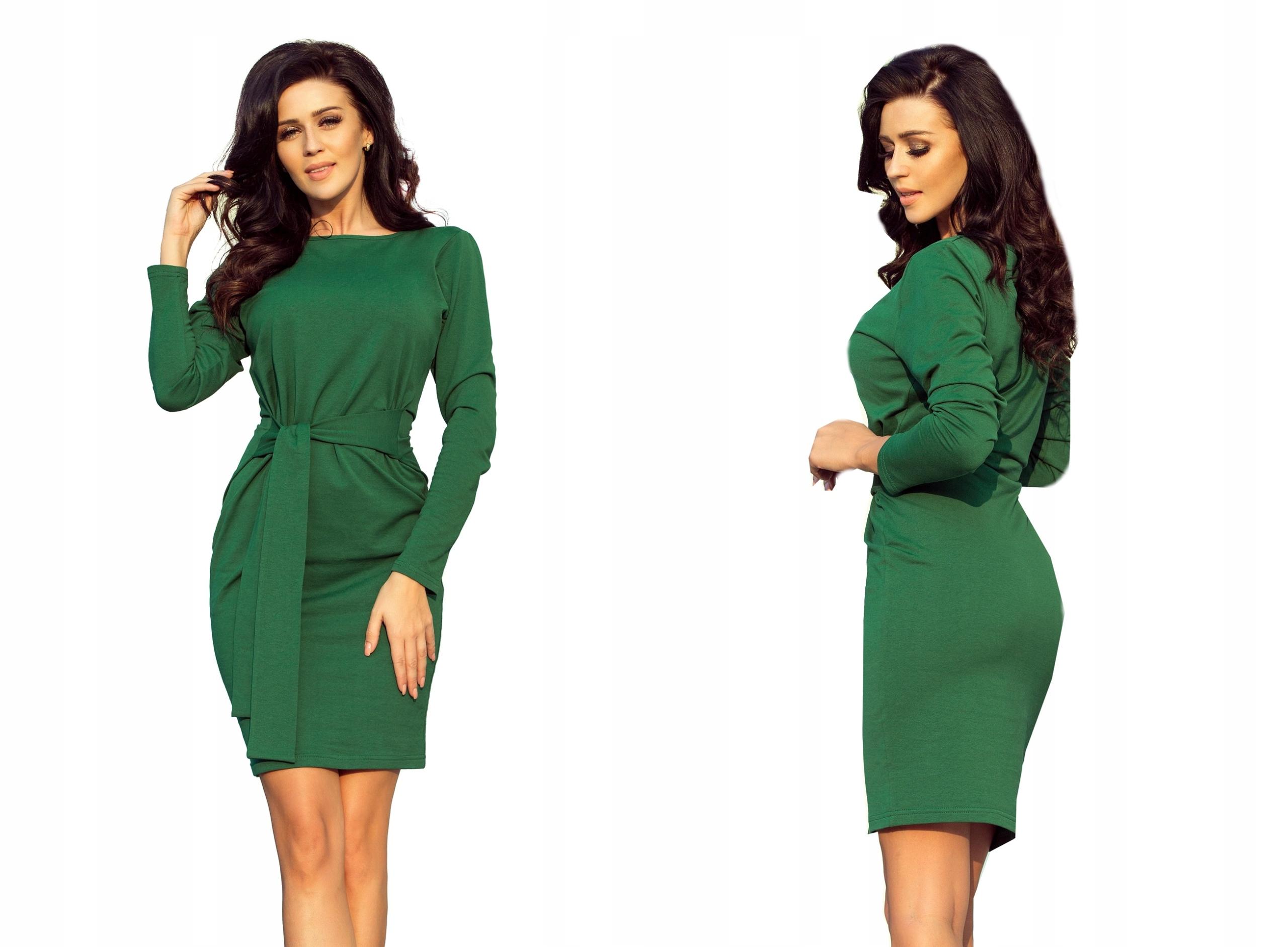 Dresowa Elegancka Sukienka Do Pracy 209-2 XXL 44
