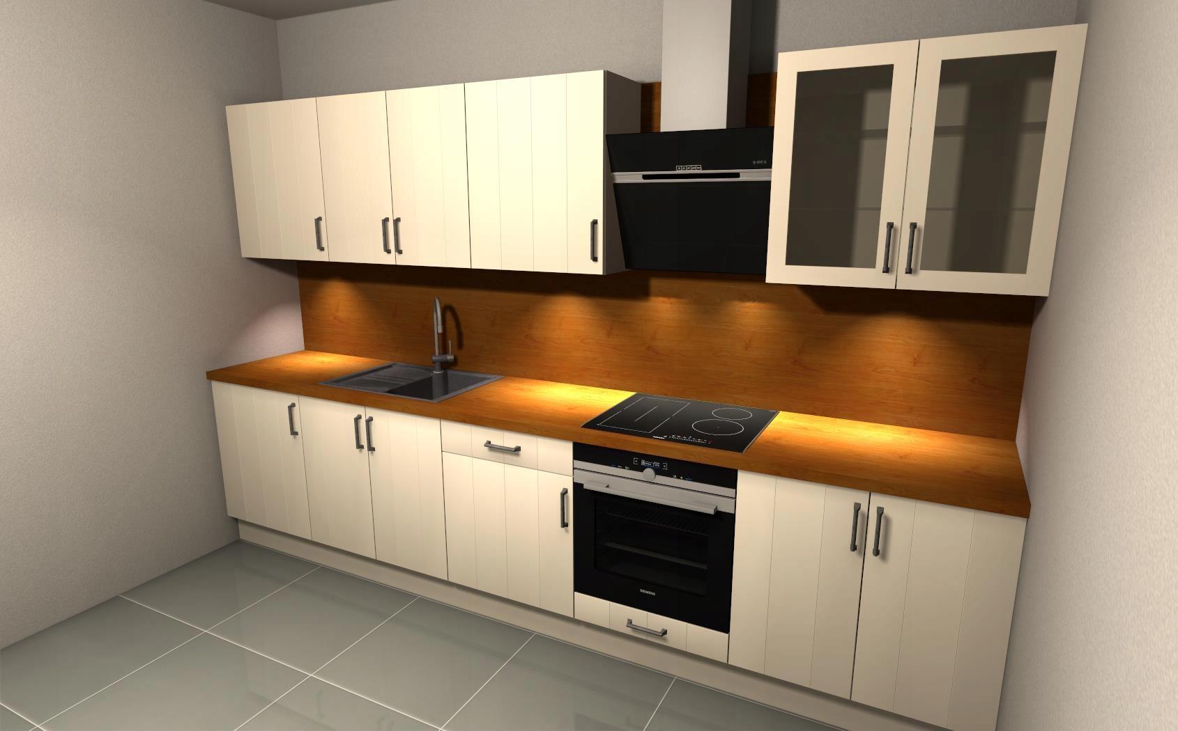Kuchnia W Stylu Prowansalskim Bezowa 280 7483664329 Allegro Pl