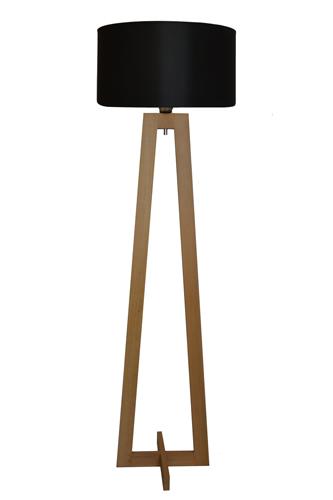 lampy metalowo drewniane stojące