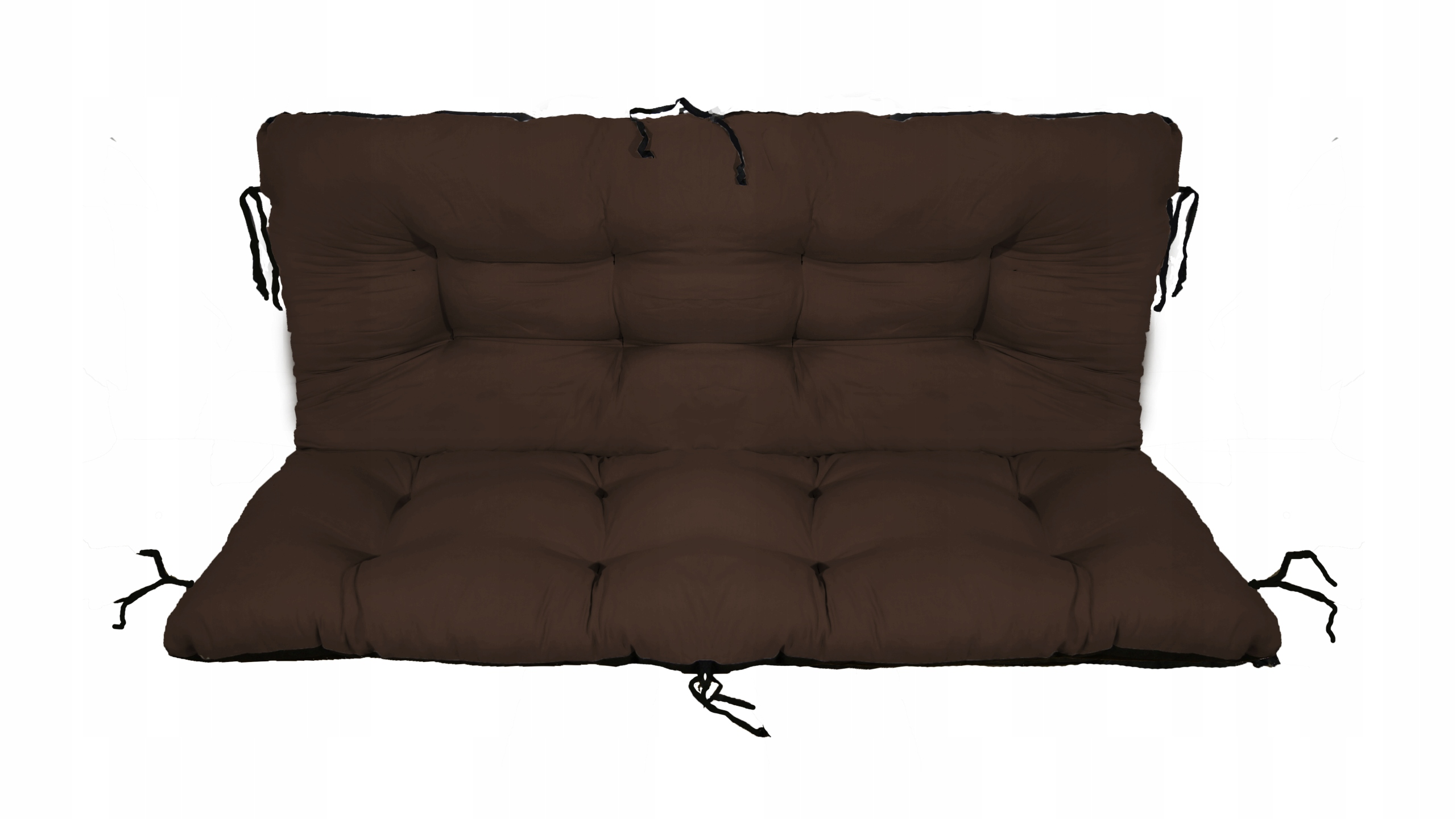 Подушка для садовой качели 140х60х50 коричневая