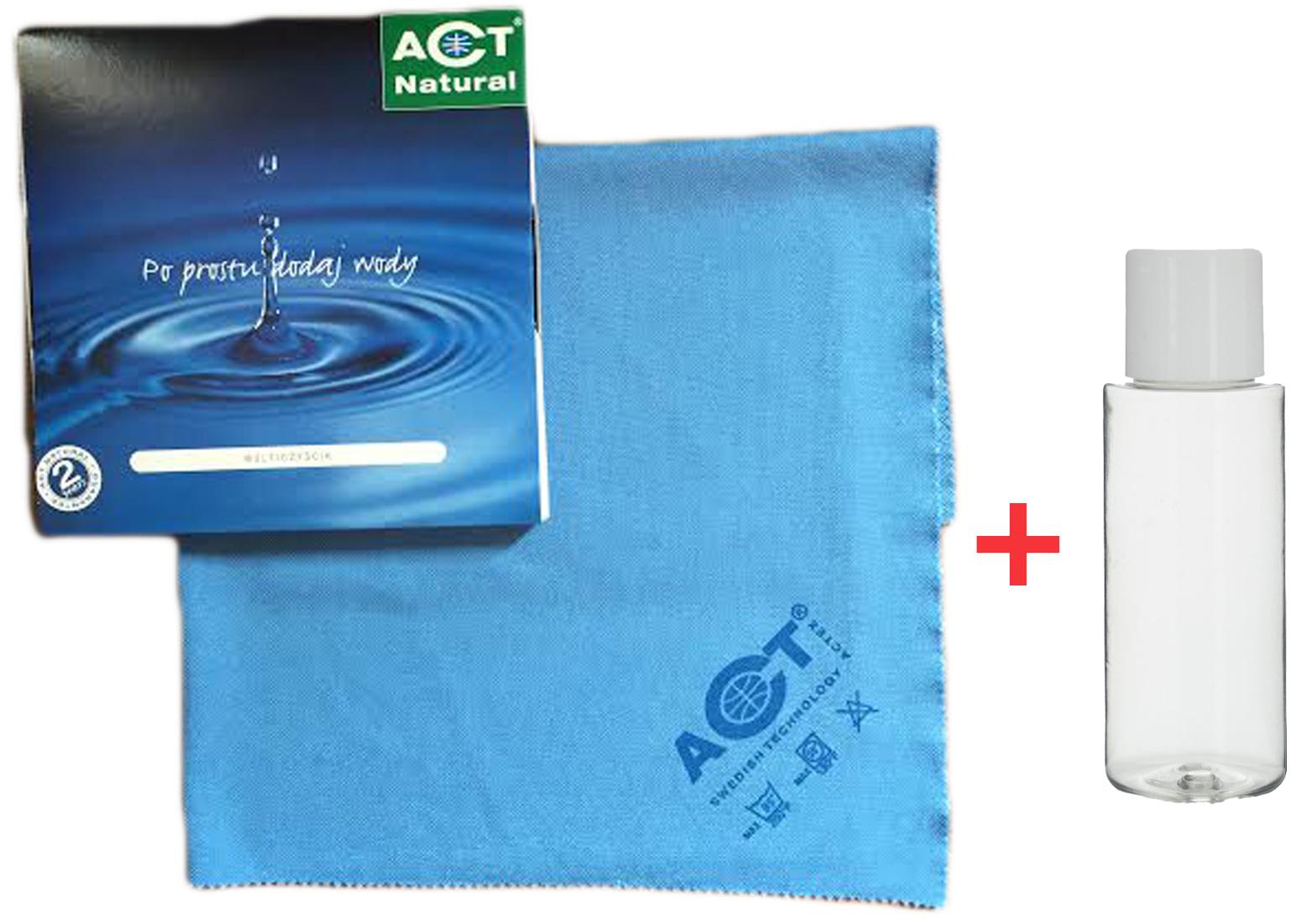 ACT Natural тряпочка салфетка для стекла мойте водой FV