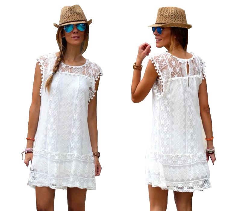 Летнее пляжное платье BOHO Туника LACE PAREO