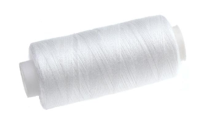 Машинная нить для швейной машины белая 365м