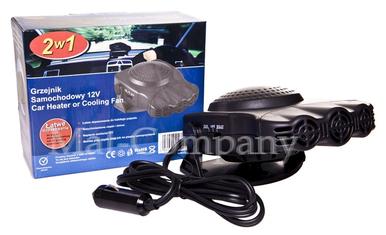 Обогреватель автомобильный вентилятор нагреватель 12в 160вт (фото 5) | Автозапчасти из Польши