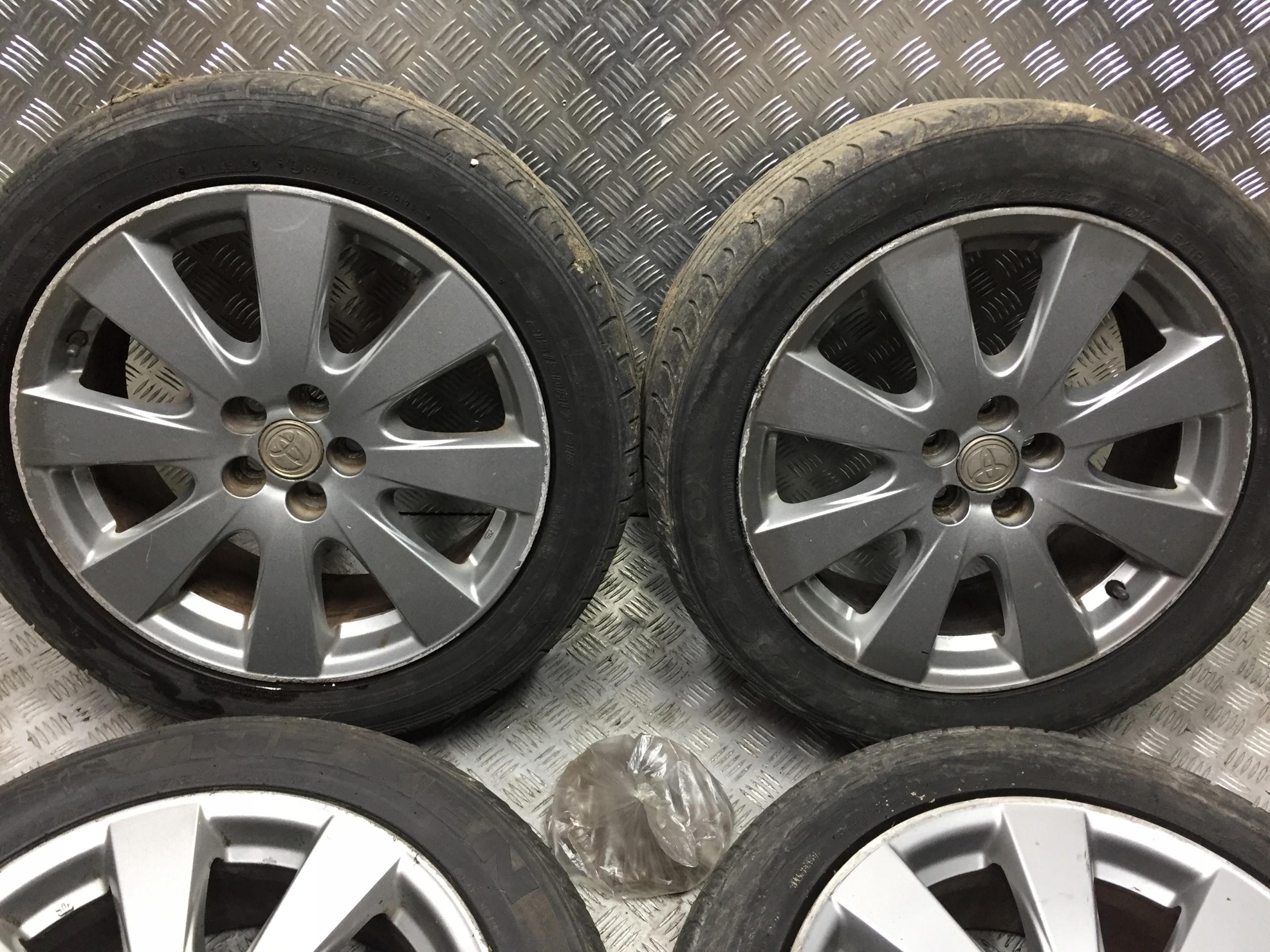 toyota avensis t25 2 колёса алюминиевые колёсные диски alusy r17 5x100